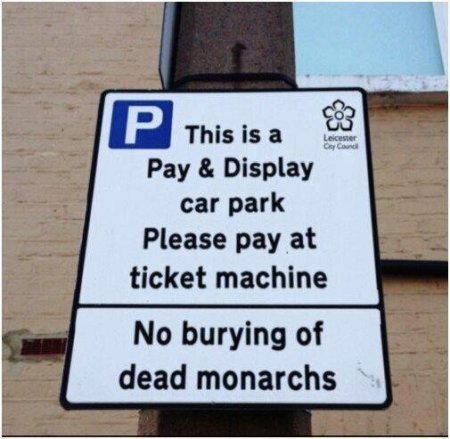 Richard III Parking Only